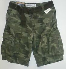 Mens Men's AEROPOSTALE Belted Camo Cargo Shorts NWT #0803