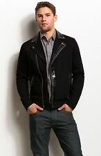 Armani Exchange A|X Coated Trim Moto Jacket/Coat