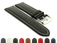 Mens Leather Extra Long Watch Strap Band Freiburg 18mm 20mm 22mm 24mm 26 mm 28mm