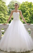 New White wedding dress Bridal Gown Stock size: 6-8-10-12-14-16