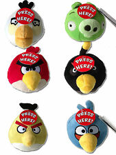 Official 4 Inch ANGRY BIRDS PLUSH Toy  - Red, Blue, White, Black, Pig, Yellow