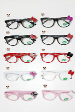 Hello Kitty Bow Fashion Lady's Frame Glasses w/Opti Clear Lens, 11 Design!