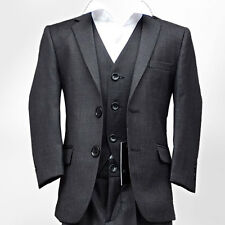NEW BOYS SUIT IN DARK GREY ITALIAN CUT PAGEBOY WEDDING PROM SUIT AGE 1 TO 15 YRS