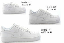P13 scarpe NIKE shoes sneakers AIR FORCE 1 pelle bianco - ULTIMI ARRIVI