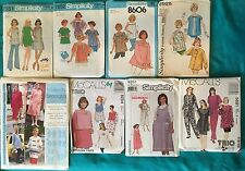 Maternity Clothes Sewing Patterns Multiple Size & Style Options Many Vintage