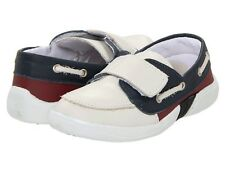 Ortopasso Kids 9605 Dress Loafers Boat shoes white ice red size 6.5 toddler boys