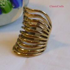 Top Qty 18K GP 316L stainless steel 33mm women band ring
