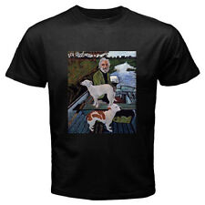 New GOODFELLAS *Painting Old Man with Two Dogs Men's Black T-Shirt Size S to 3XL