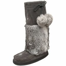 Manitobah Mukluks Suede Tall Mukluk Boot Charcoal Canada Snow Cold Leather Suede
