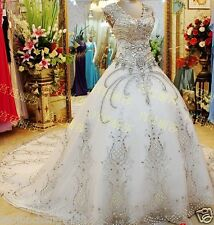 Extremely luxurious, large wedding, the bride wedding dress Custom