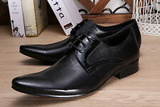 Mens Real Leather Dress Formal Shoes Hand Crafted Black Fashion Wingtip Work