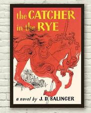 Vintage J.D Salinger Catcher In The Rye Book Cover Poster Print Picture A3 A4