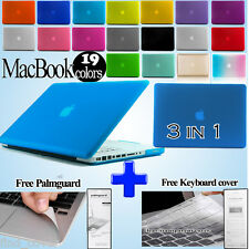 Frosted Matte Rubberized Hardshell Case Apple MacBook + Palmguard+Keyboard Cover