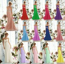 STOCK Chiffon Sweetheart Beaded Empire Dress prom Evening Bridesmaids dresses