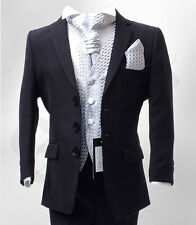 BOYS NAVY & LILAC WEDDING SUIT PAGEBOY PROM FORMAL CRAVAT SUIT AGE 1 TO 15 YRS