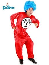 Adult Kid's Book Dr. Seuss Cat in the Hat Thing 1 and Thing 2 Mischief Costume
