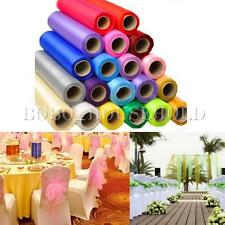 25m 28cm Roll Crystal Tulle Organza Sheer Fabric Wedding Chair Bow Table Runner