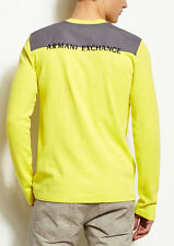Armani Exchange A|X Colorblock Logo Thermal Shirt/Top - Yellow