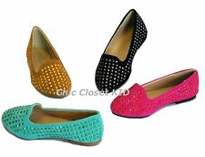 New Little Girl Studded Studs Low Flat Heel Ballet Flat JR Kid Youth Cute Shoes