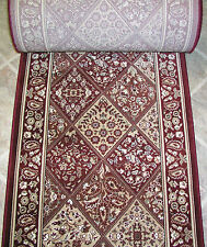 """Rug Depot Hall and Stair Runner Remnants - 26"""" Wide - Couristan CB39/0002A Red"""
