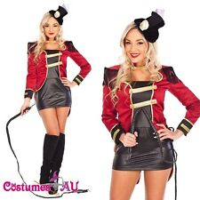 Ladies Ring Mistress Circus Ringmaster Costume Showgirl Halloween Fancy Dress