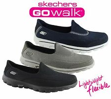 SKECHERS WOMENS GO WALK 2 COMFORTABLE LIGHT WEIGHT CASUAL SHOES/SNEAKERS