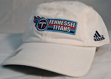 ADIDAS NFL TENNESSEE TITANS WHITE SLOUCH ADJUSTABLE HAT CAP OSFA BRAND NEW
