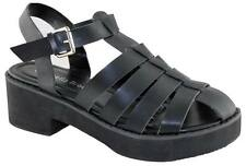 ISABELLA BROWN SIDE WOMENS/LADIES STRAPPY FASHION SHOES FISHERMAN SANDALS