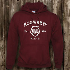 Hogwarts School Mens Womens Hoodie -- Harry Potter Clothing Presents Gifts