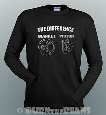 Wankel Rotary VS Piston T Shirt Mazda RX5 RX6 RX7 RX8 Ro80 Eunos Cosmo 12A 13B
