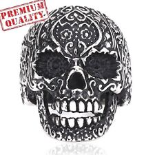 Vintage Men's Ring Decoration Carved Skull Titanium Steel Stainless Steel