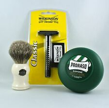 Vulfix 2006 Badger Shaving Brush with Wilkinson Razor and Soap