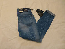 NWT WOMENS ROCK & REPUBLIC SKINNY BOYFRIEND EMO JEANS $88 MILKYWAY R011152