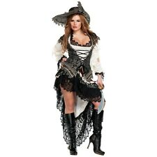 Pirate Costume Women's Deluxe Adult Trashy Design Halloween Fancy Dress