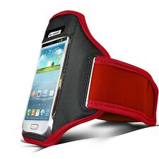 Red Running Armband GYM Skin Case Cover FOR Samsung Galaxy 2013 Latest Model