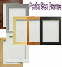 Wooden Picture Photo Frames Poster Size Frames Black Beech White Oak Pine