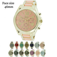 New 3 Eye Geneva Platinum Round Ladies Designer Style Fashion Watch USA Seller