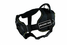 DT Fun Chest Padded Dog Harness Yellow Trim with Velcro Patch