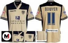 *13 / 14 - MACRON ; LEEDS UTD AWAY SHIRT SS + ARM PATCHES / BOWYER 11 = SIZE*