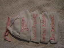 BABY GIRL'S PAINTED SLOGAN COTTON HAT