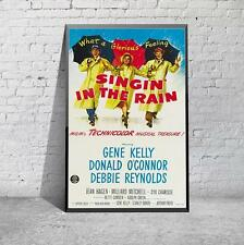 Vintage Singin In The Rain Gene Kelly Movie Film Poster Print Picture A3 A4