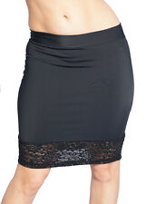 "Plus Size Black Mini Skirt With Lace Bottom. Sexy Style Up To 44""! Crossdresser"