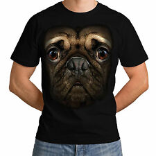 Pug Face New Mens Women Top Animal T-Shirt Parody Dog BNWT Funny Terrier *h125