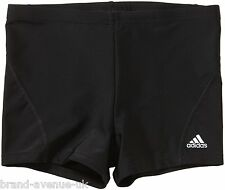 BOYS ADIDAS INFINITEX BLACK SWIMMING SWIM SHORTS TRUNKS BOXER BNWT 8 TO 16 YRS