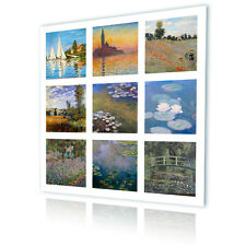 LARGE Canvas Claude Monet Collage Set Lot 9 pic decor wall art reproduction