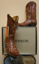 WOMENS STETSON COWGIRL BOOT! STYLE 12-020-6105-0422!! FLORAL EMBROIDER!!