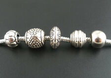 Wholesale Mixed Lots Silver Tone Acrylic Spacers Beads Fit Charm Bracelet