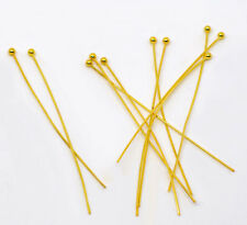 Wholesale Mixed Lots Gold Plated Ball Head Pins Findings 0.5x50mm