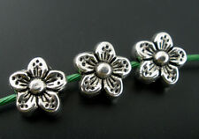 Wholesale Mixed Lots Silver Tone Flower Spacer Beads 9mm