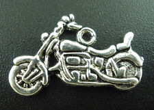 Wholesale Mixed Lots Silver Tone Motorcycle Charms Pendants 24x14mm